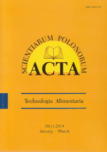 Journal Food Sciences and Nutrition Acta Scientiarum